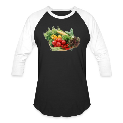 vegetable fruits - Unisex Baseball T-Shirt
