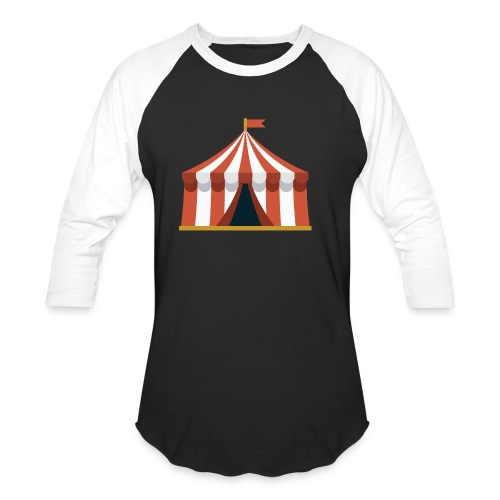 Striped Circus Tent - Unisex Baseball T-Shirt