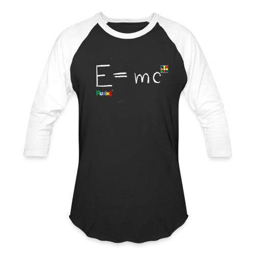 Rubik's Cube Theory Of Relativity Formula - Baseball T-Shirt