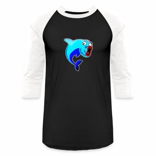 Happy Dolphin Logo - Baseball T-Shirt