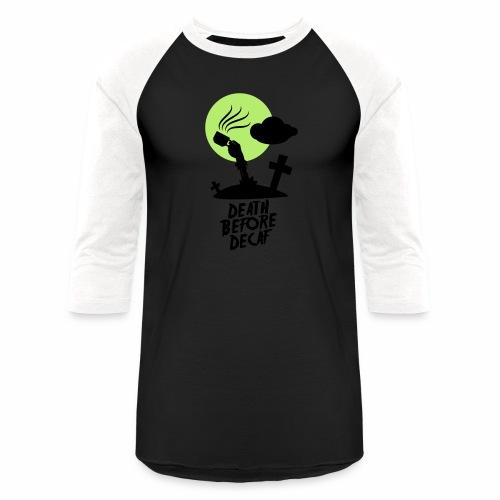 Death Before Decaf - Baseball T-Shirt