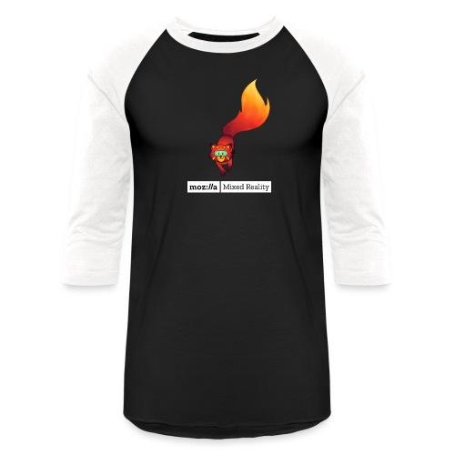 Foxr Walking (white MR logo) - Baseball T-Shirt