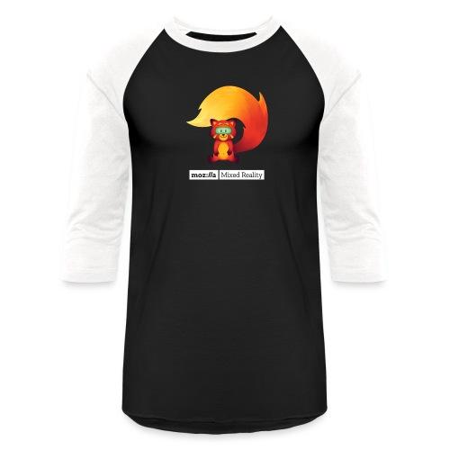 Foxr Sitting (white MR logo) - Baseball T-Shirt