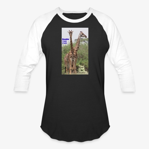 Two Headed Giraffe - Baseball T-Shirt