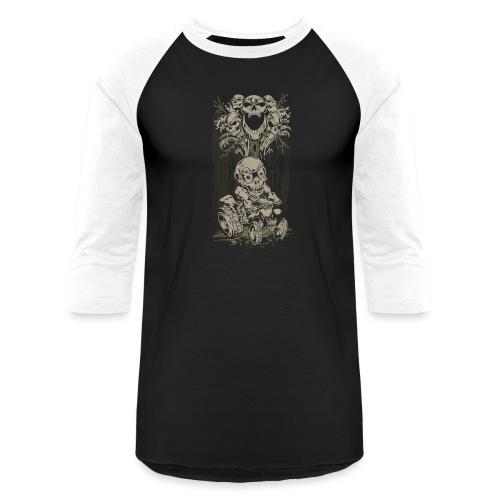 ATV Skully Skull Tree - Baseball T-Shirt