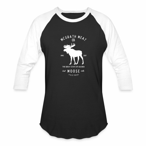 McGrath Meat Company White Stamp Logo - Baseball T-Shirt
