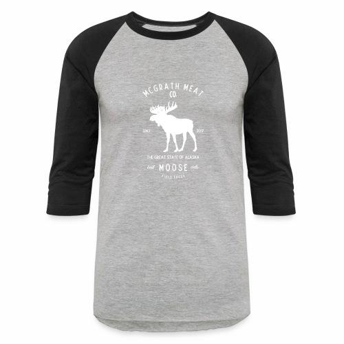 McGrath Meat Company White Stamp Logo - Baseball T-Shirt