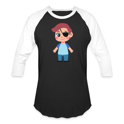 Boy with eye patch - Baseball T-Shirt