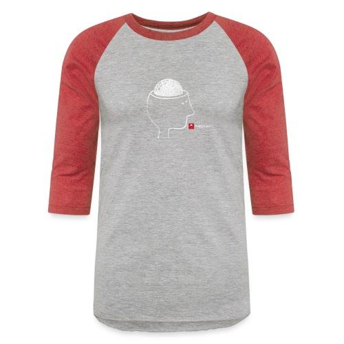 TGO bighead distressed white front png - Unisex Baseball T-Shirt
