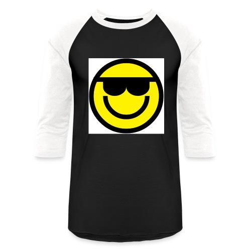 Emoticon Sunglasses png - Unisex Baseball T-Shirt