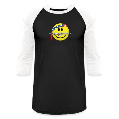 Happy Face USA - Unisex Baseball T-Shirt