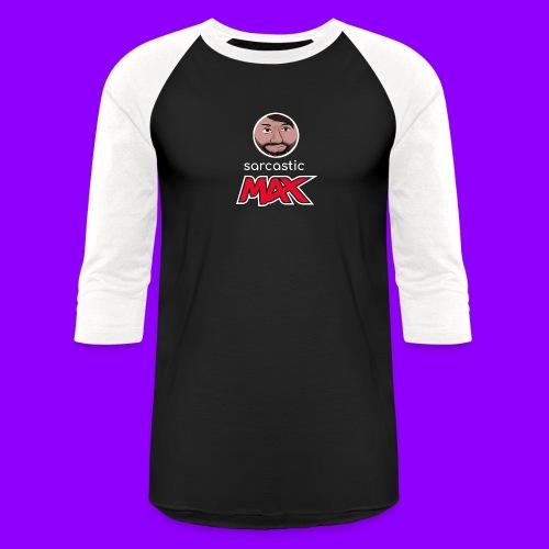 SarcasticMax cola beverage logo - Unisex Baseball T-Shirt