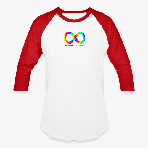 Neurodiversity with Rainbow swirl - Baseball T-Shirt