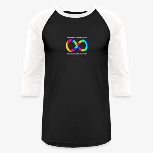 Embrace Neurodiversity with Swirl Rainbow - Baseball T-Shirt