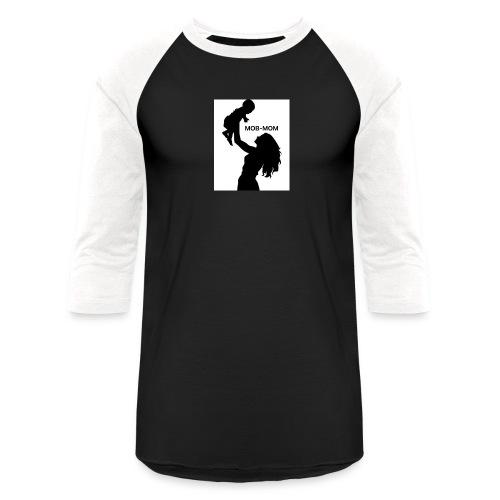 MOB-MOM - Unisex Baseball T-Shirt