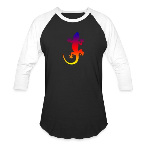 Colorful gecko - Baseball T-Shirt