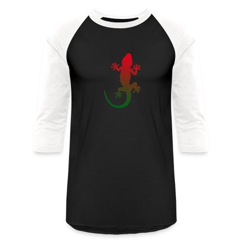 Tropical gecko green red - Baseball T-Shirt