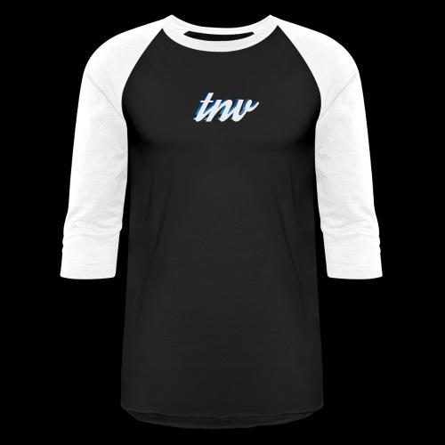 TNV WHITE DESIGN CLSSC png - Baseball T-Shirt