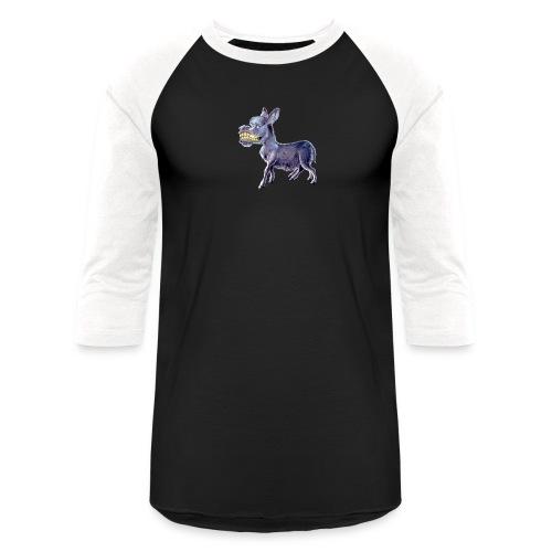 Funny Keep Smiling Donkey - Baseball T-Shirt