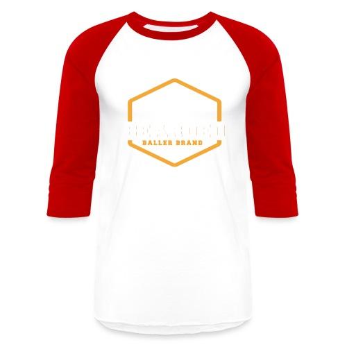 The Bearded Baller Brand White and Gold - Baseball T-Shirt
