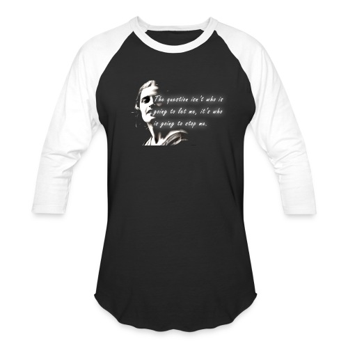 Stop me Ayn Rand on black background - Baseball T-Shirt