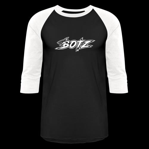 BOTZ White Logo - Baseball T-Shirt
