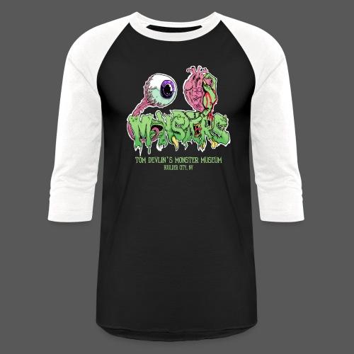 Eye Heart Monsters - Unisex Baseball T-Shirt