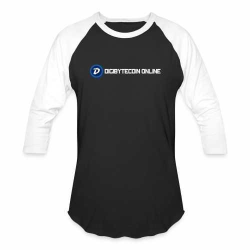 Digibyte online light - Unisex Baseball T-Shirt