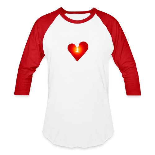 Loving heart - Unisex Baseball T-Shirt