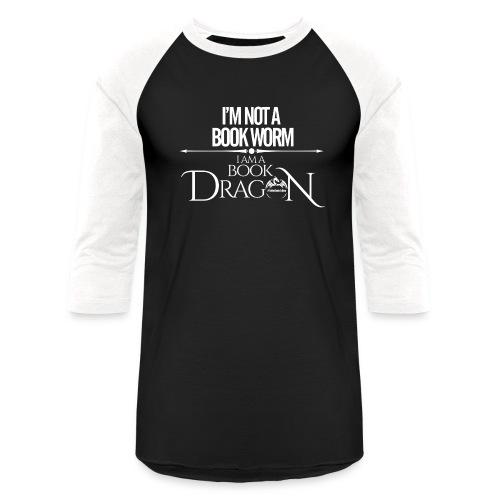 White Book Dragon - Unisex Baseball T-Shirt