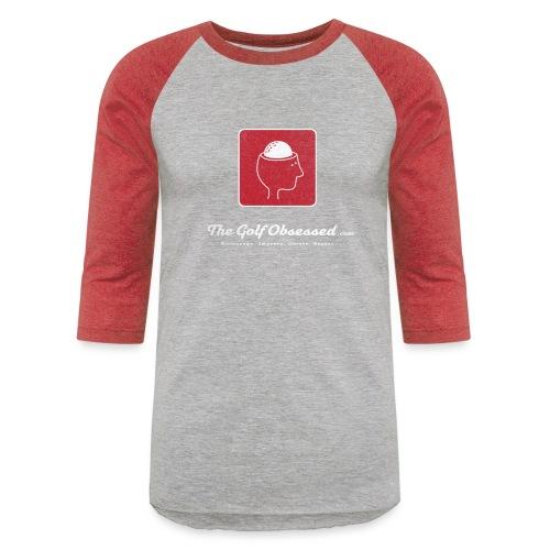 TGO v3 logo red distressed png - Unisex Baseball T-Shirt