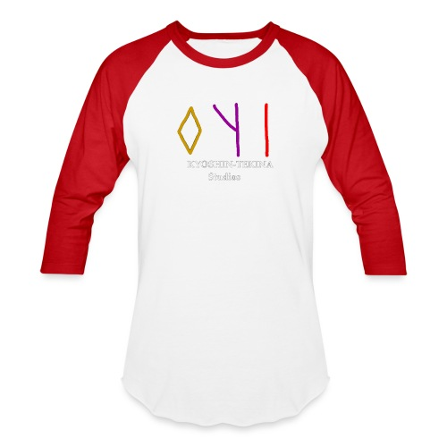 Kyoshin-Tekina Studios logo (white text) - Baseball T-Shirt