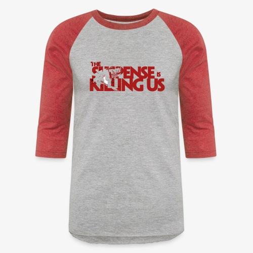 Suspsense Is Killing Us Blood Red Logo - Baseball T-Shirt