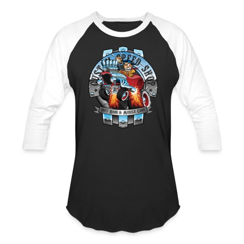 Custom Speed Shop Hot Rods and Muscle Cars Illustr - Baseball T-Shirt