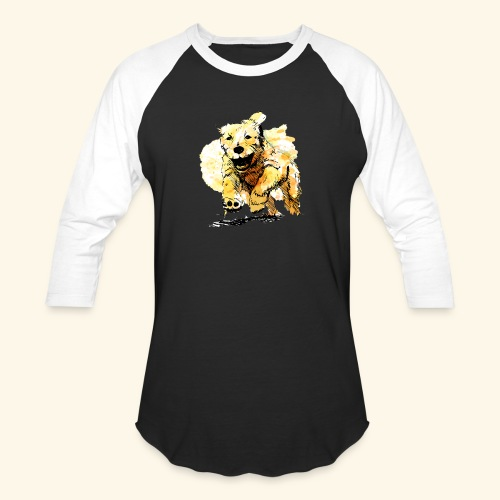 oil dog - Unisex Baseball T-Shirt