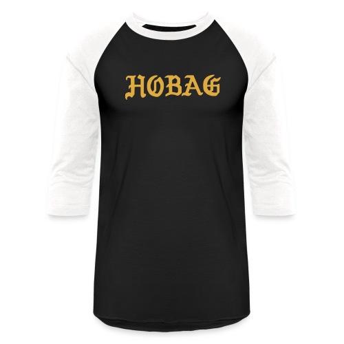 BLACK - HOBAG LETTERING - Baseball T-Shirt