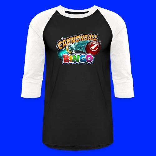 Vintage Cannonball Bingo Logo - Unisex Baseball T-Shirt