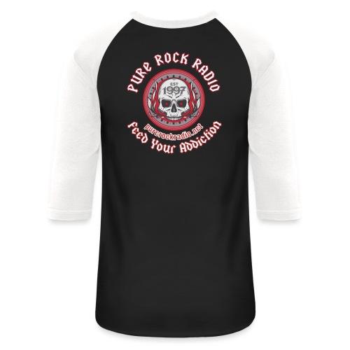 PRR Molenoise Skull (Front) + Circle Logo (Back) - Unisex Baseball T-Shirt