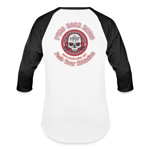 PRR Molenoise Skull (Front) + Circle Logo (Back) - Baseball T-Shirt