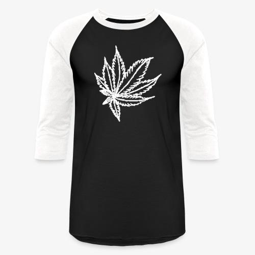white leaf w/myceliaX.com logo - Baseball T-Shirt