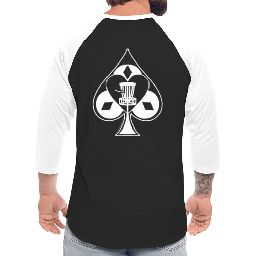 Disc Golf Lucky Ace Shirt or Prize - Unisex Baseball T-Shirt