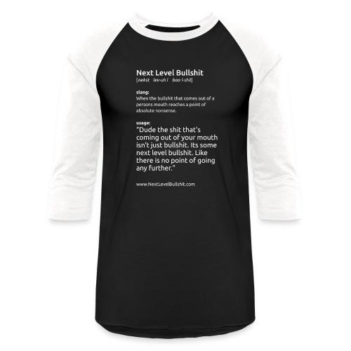 shirt slogan1 NSFW vert dark png - Unisex Baseball T-Shirt