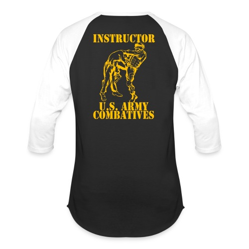 Army Combatives Knee Instructor Gold - Unisex Baseball T-Shirt