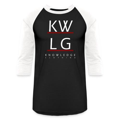 logo2allwhite png - Unisex Baseball T-Shirt