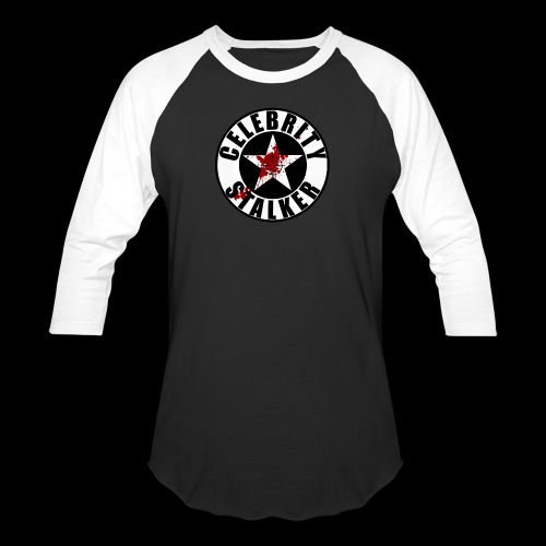 Celebrity Stalker Bloody Circle Logo - Baseball T-Shirt