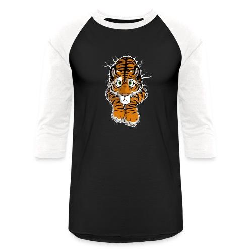 STUCK Tiger Orange (double-sided) - Unisex Baseball T-Shirt