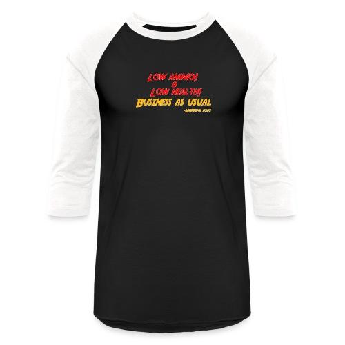Low ammo & Low health + Logo - Baseball T-Shirt