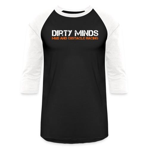Dirty Minds Obstacle Racing Logo - Baseball T-Shirt