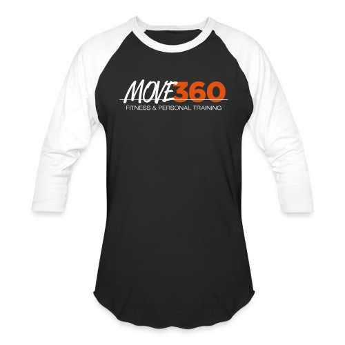 Move360 Logo LightGrey - Unisex Baseball T-Shirt
