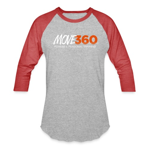 Move360 Logo LightGrey - Unisex Baseball T-Shirt